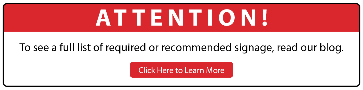 Required or recommended signage_web banner
